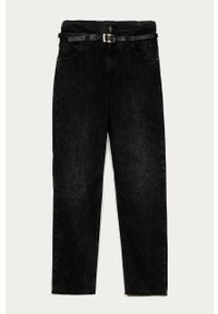 Czarne jeansy Liu Jo z podwyższonym stanem
