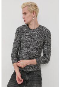 !SOLID - Solid - Sweter. Kolor: szary. Materiał: materiał. Długość rękawa: długi rękaw. Długość: długie