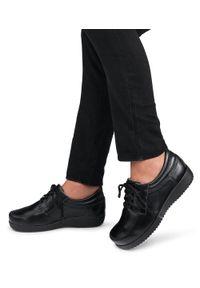 Czarne półbuty PESCO eleganckie, w kolorowe wzory