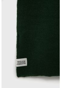 !SOLID - Solid - Szalik. Kolor: zielony. Materiał: dzianina