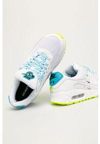 Białe buty sportowe Nike Sportswear Nike Air Max, z cholewką, z okrągłym noskiem, na obcasie