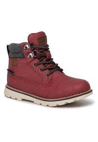 Czerwone buty zimowe CMP z cholewką