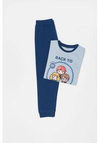 Niebieska piżama OVS z nadrukiem