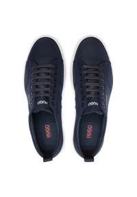 Hugo - Sneakersy HUGO - Zero 50451820 10234982 01 Dark Blue 401. Okazja: na co dzień. Kolor: niebieski. Materiał: materiał. Szerokość cholewki: normalna. Styl: elegancki, sportowy, casual