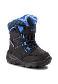 Kamik - Śniegowce KAMIK - Stance NF9125 Black Blue. Okazja: na spacer. Kolor: czarny. Materiał: materiał. Szerokość cholewki: normalna. Sezon: zima, jesień