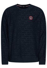 TOMMY HILFIGER - Tommy Hilfiger Bluza All-Over Logo UM0UM02138 Granatowy Regular Fit. Kolor: niebieski