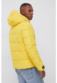 Superdry - Kurtka. Okazja: na co dzień. Kolor: żółty. Materiał: włókno, materiał. Styl: casual