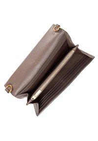 Tory Burch - Torebka TORY BURCH - McGraw Wallet Crossbody 64502 Silver Maple 963. Kolor: brązowy. Materiał: skórzane