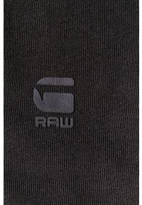 G-Star RAW - G-Star Raw - Kombinezon. Kolor: czarny. Materiał: bawełna, dzianina, materiał. Długość rękawa: krótki rękaw. Długość: krótkie. Wzór: gładki