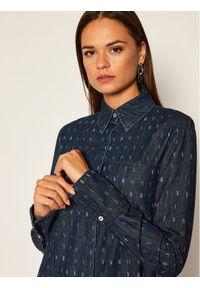 Niebieska koszula Victoria Victoria Beckham z nadrukiem