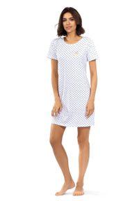 Lorin - Koszula nocna. Kolor: biały. Materiał: materiał. Długość: krótkie
