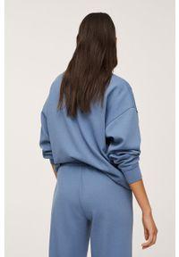 mango - Mango - Bluza Amelie. Kolor: niebieski. Materiał: włókno