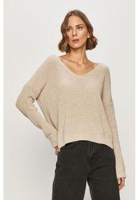 Beżowy sweter only długi, z długim rękawem