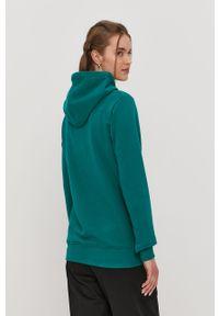 Zielona bluza Prosto. z nadrukiem, z kapturem, casualowa, na co dzień