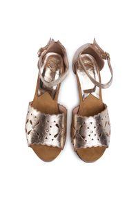 Złote sandały Libero casualowe, na co dzień