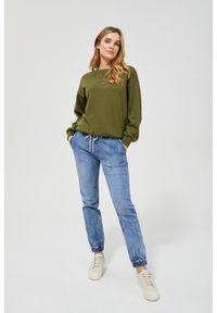 MOODO - Spodnie jeansowe typu jogger. Długość: długie. Wzór: gładki