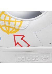 Adidas - Buty adidas - Stan Smith W FX5679 Ftwwht/Halivo/Ftwwht. Zapięcie: sznurówki. Kolor: biały. Materiał: skóra. Szerokość cholewki: normalna. Wzór: motyw zwierzęcy. Model: Adidas Stan Smith