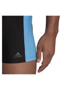 Adidas - Kąpielówki męskie adidas Three-Second Swim Briefs GM3543. Materiał: nylon, tkanina, materiał, elastan. Długość: długie