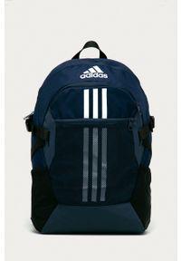 adidas Performance - Plecak. Kolor: niebieski. Materiał: materiał. Wzór: nadruk