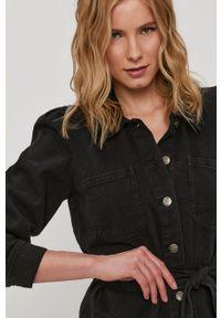 only - Only - Kurtka jeansowa. Okazja: na co dzień. Kolor: czarny. Materiał: jeans. Styl: casual