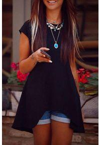 Czarna tunika IVET elegancka, na co dzień