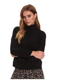 Czarny sweter TOP SECRET z golfem
