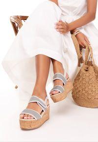 Srebrne sandały Born2be