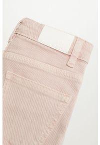 Fioletowe jeansy Mango Kids gładkie, z podwyższonym stanem