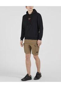 PAUL & SHARK - Czarna bluza z kapturem z bawełny organicznej. Typ kołnierza: kaptur. Kolor: czarny. Materiał: bawełna. Długość rękawa: długi rękaw. Długość: długie. Styl: klasyczny, sportowy
