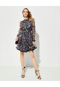 NEEDLE & THREAD - Sukienka w kwiaty Ditsy. Kolor: czarny. Materiał: materiał, koronka. Długość rękawa: długi rękaw. Wzór: kwiaty. Sezon: lato