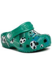 Zielone klapki Crocs sportowe