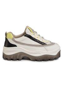 Białe buty sportowe Bronx z cholewką, na co dzień