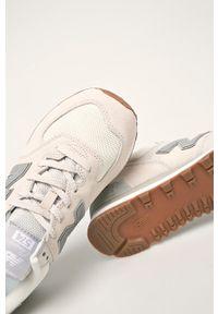 Szare sneakersy New Balance z cholewką, na sznurówki, z okrągłym noskiem