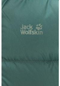 Zielona kurtka Jack Wolfskin casualowa, z kapturem