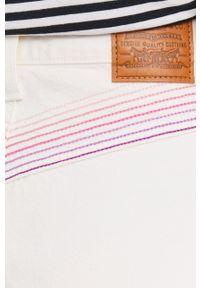 Levi's® - Levi's - Jeansy Ribcage. Okazja: na spotkanie biznesowe. Kolor: beżowy. Styl: biznesowy