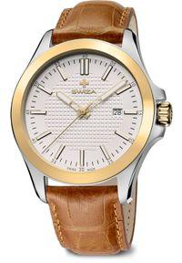 Zegarek Swiza Zegarek męski Urbanus 2T brązowy (WAT.0761.2301). Kolor: brązowy