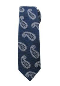Niebieski krawat Alties paisley, elegancki
