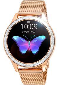 Złoty zegarek Rubicon smartwatch