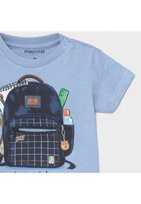 Mayoral T-Shirt 1011 Niebieski Regular Fit. Kolor: niebieski