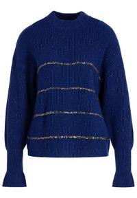 Niebieski sweter klasyczny The Kooples