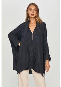 Niebieska bluzka Liviana Conti gładkie, długa, na co dzień, casualowa