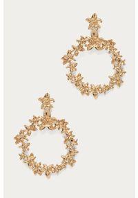 Złote kolczyki Pieces metalowe