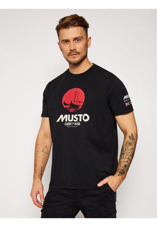 Musto T-Shirt Tokyo 81183 Czarny Regular Fit. Kolor: czarny