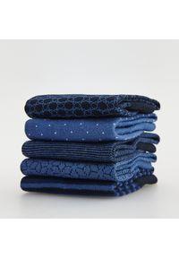 Reserved - Skarpety we wzory 5 pack - Granatowy. Kolor: niebieski