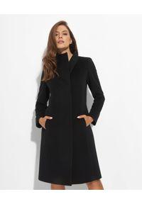 CINZIA ROCCA - Czarny płaszcz z wełny i kaszmiru. Kolor: czarny. Materiał: kaszmir, wełna