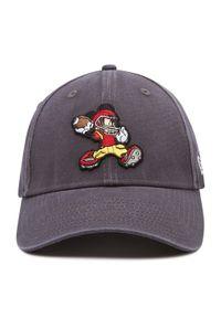 New Era - Czapka z daszkiem NEW ERA - Micky Mouse Disney Character Sports 9Forty 60112669 Szary. Kolor: szary. Materiał: materiał, bawełna. Wzór: motyw z bajki
