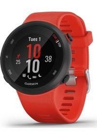 GARMIN - Zegarek sportowy Garmin Forerunner 45 Czerwony (010-02156-16). Kolor: czerwony. Styl: sportowy
