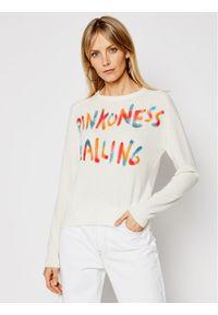 Beżowy sweter klasyczny Pinko