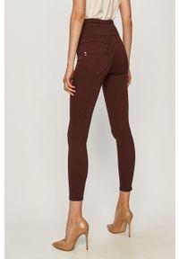 Fioletowe spodnie materiałowe Patrizia Pepe z podwyższonym stanem