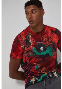 medicine - Medicine - T-shirt bawełniany Urban Punk. Kolor: czerwony. Materiał: bawełna. Wzór: nadruk